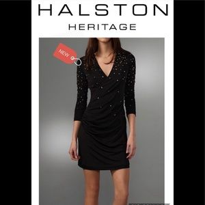 Halston heritage studded crossover dress NWT Sz 6
